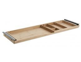 Slimtray bambusa atvilktne zem galda