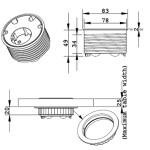 Powerdot 1x Strāvas + 4 vadu caurvadi