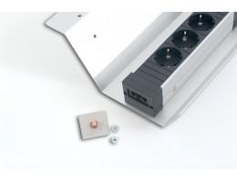 STEP Montāžas elementi - 1gab. Plāksne ar vītni pa vidu.