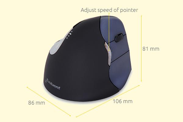 evoluent4 wireless wireless ergonomic mouse 1467641849